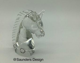 Vintage Murano V. Nason Art Glass Horse head paperweight