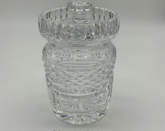 Waterford Crystal Glass Jam Jar with lid