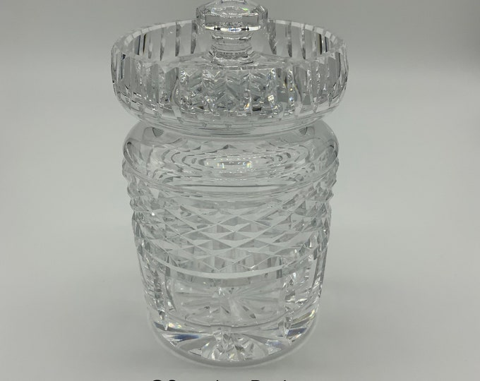 Featured listing image: Waterford Crystal Glass Jam Jar with lid