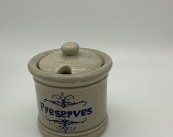 McCoy vintage Preserves Jam Jar With lid 1853
