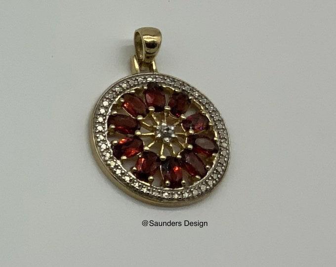 Featured listing image: A Rhinestone Pinwheel Pendant