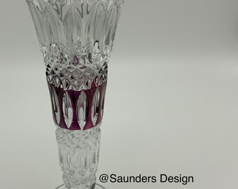 Crystal Footed Bud Vase with Ruby Accent