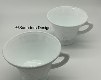 Milk Glass Harvest Cups