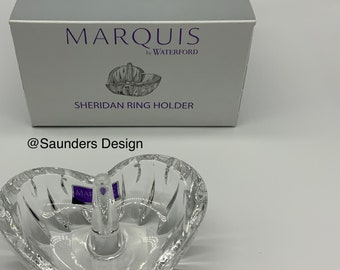 Crystal Marquis Sheridan Waterford Heart Ring Holder