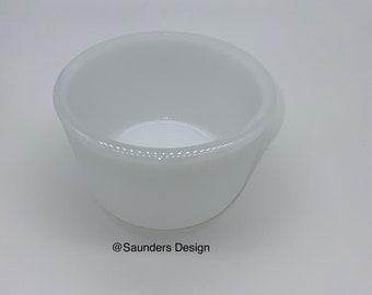 E.O Brody CO. M J - 36  Milk Glass Ribbed planter