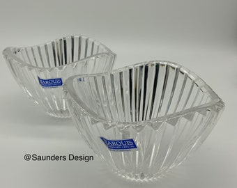 Omnia Marquis Waterford crystal votive's