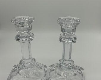 Biedermann Crystal Candlestick Holder