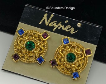 Napier Multi Color Stud Earrings