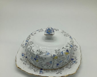 Bluebell Time Royal Stafford  Covered Butter Dish