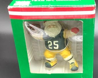 Santa's Green Bay Packer #25 Quaterback Ornament