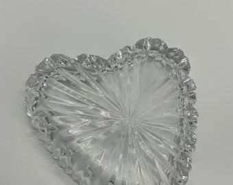 Waterford Crystal Heart Shaped Trinket Ring Vanity