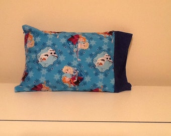 Travel Pillow Case Anna and Elsa with Olaf