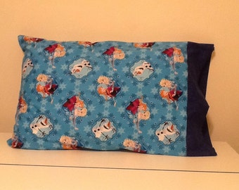 Pillow Case Anna and Elsa with Olaf
