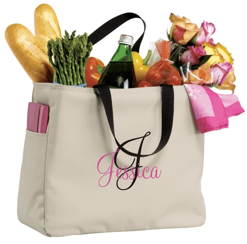8 Bridesmaid Gift Monogrammed Personalized Tote Bag Wedding Party