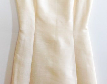 Vintage 1950s Silk A-Line Dress