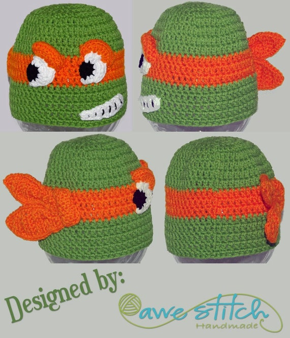 A Teenage Turtle Crochet Pattern Instant Download Character Etsy