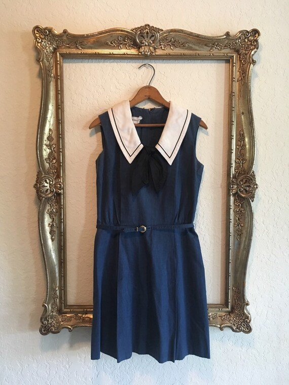 Vintage 60s Sailor Dress