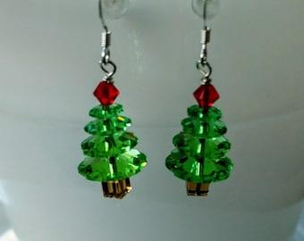 peridot xmas tree earrings swarovski christmas tree earrings crystal xmas tree earrings green xmas tree earrings margarita tree earrings