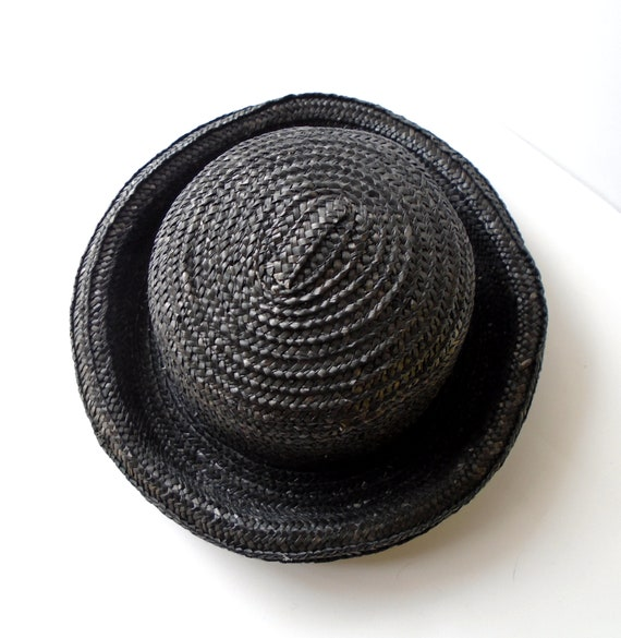 Vintage Round Straw Hat for Summer - Vintage Stra… - image 2