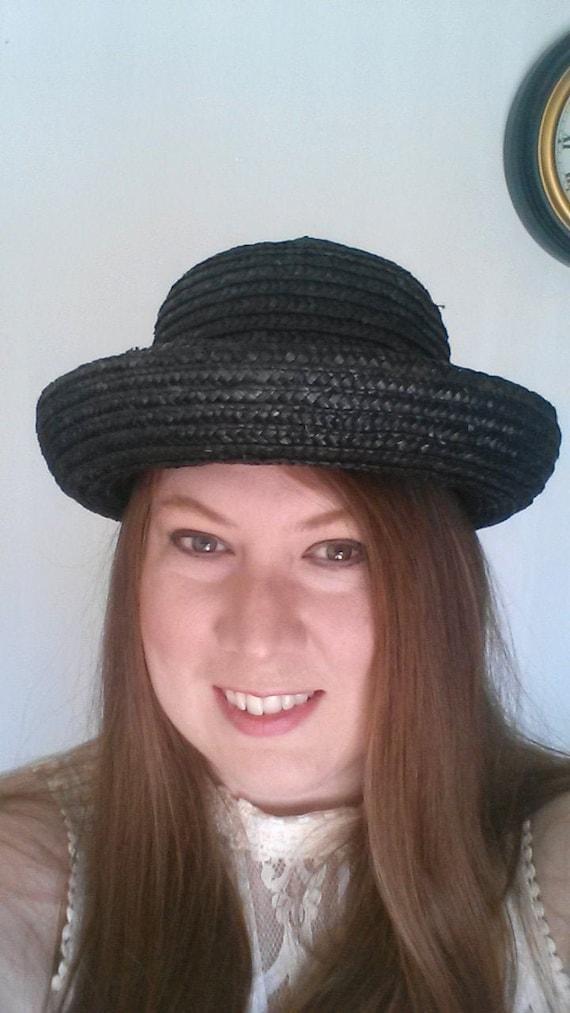 Vintage Round Straw Hat for Summer - Vintage Stra… - image 4