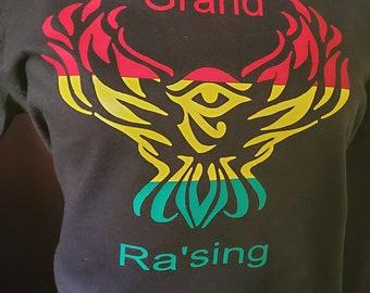 Grand (Ra'sing) Raising Rising Graphic Logo t-shirt