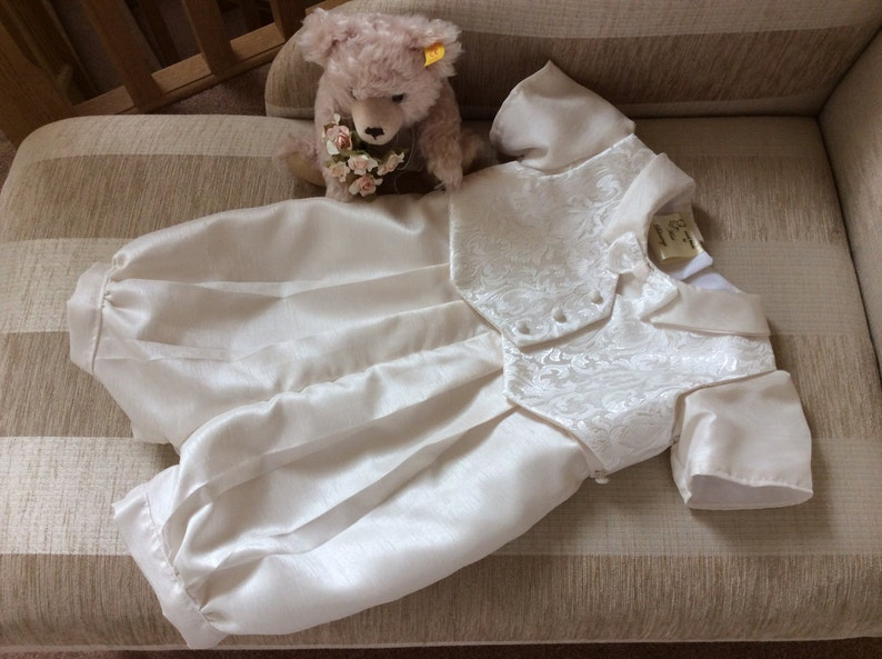 Baptism Suit Boys Christening Gown hat Baby boys Wedding Special Occasion Blessings Naming