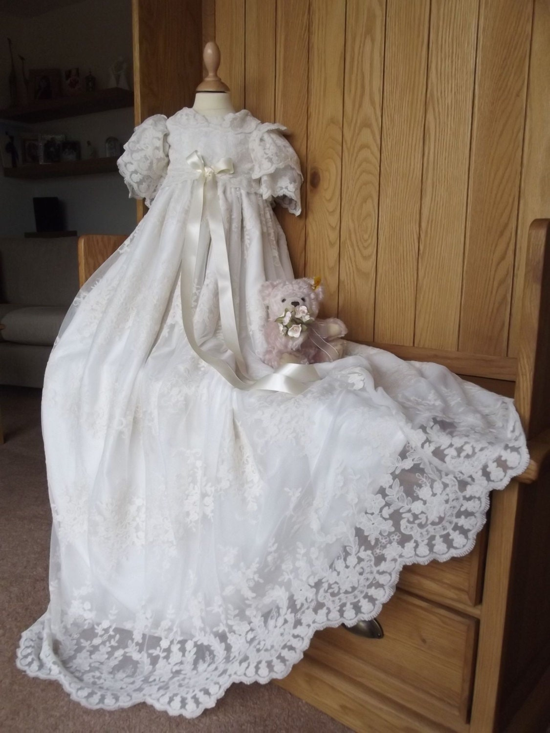 Lace Christening Gown Heirloom Christening Gown First Etsy