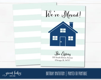Moving Announcement, We've Moved, Moved Cards, We Moved Cards, Change of Address, We Have Moved Cards, We Moved Announcements, New Home