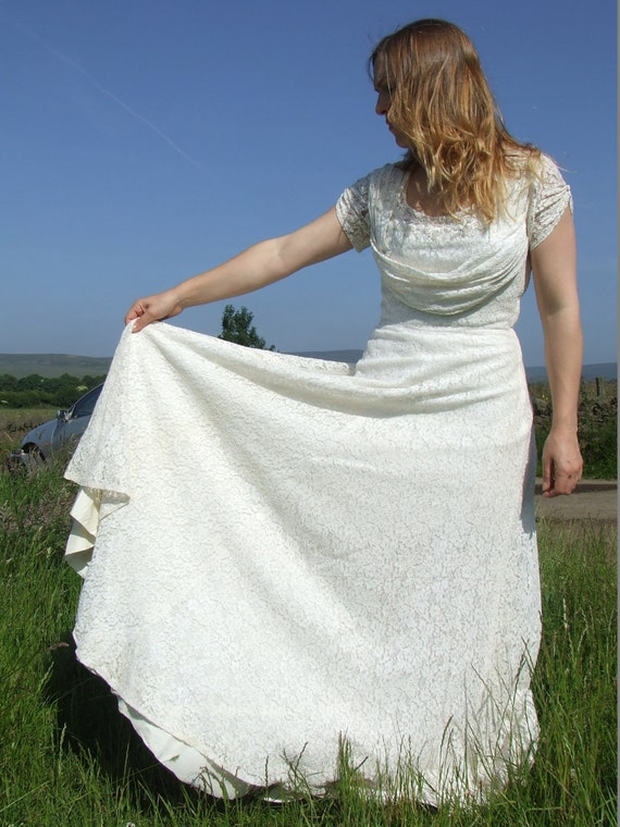 Vintage wedding dress lace made 1930-1940, boho we