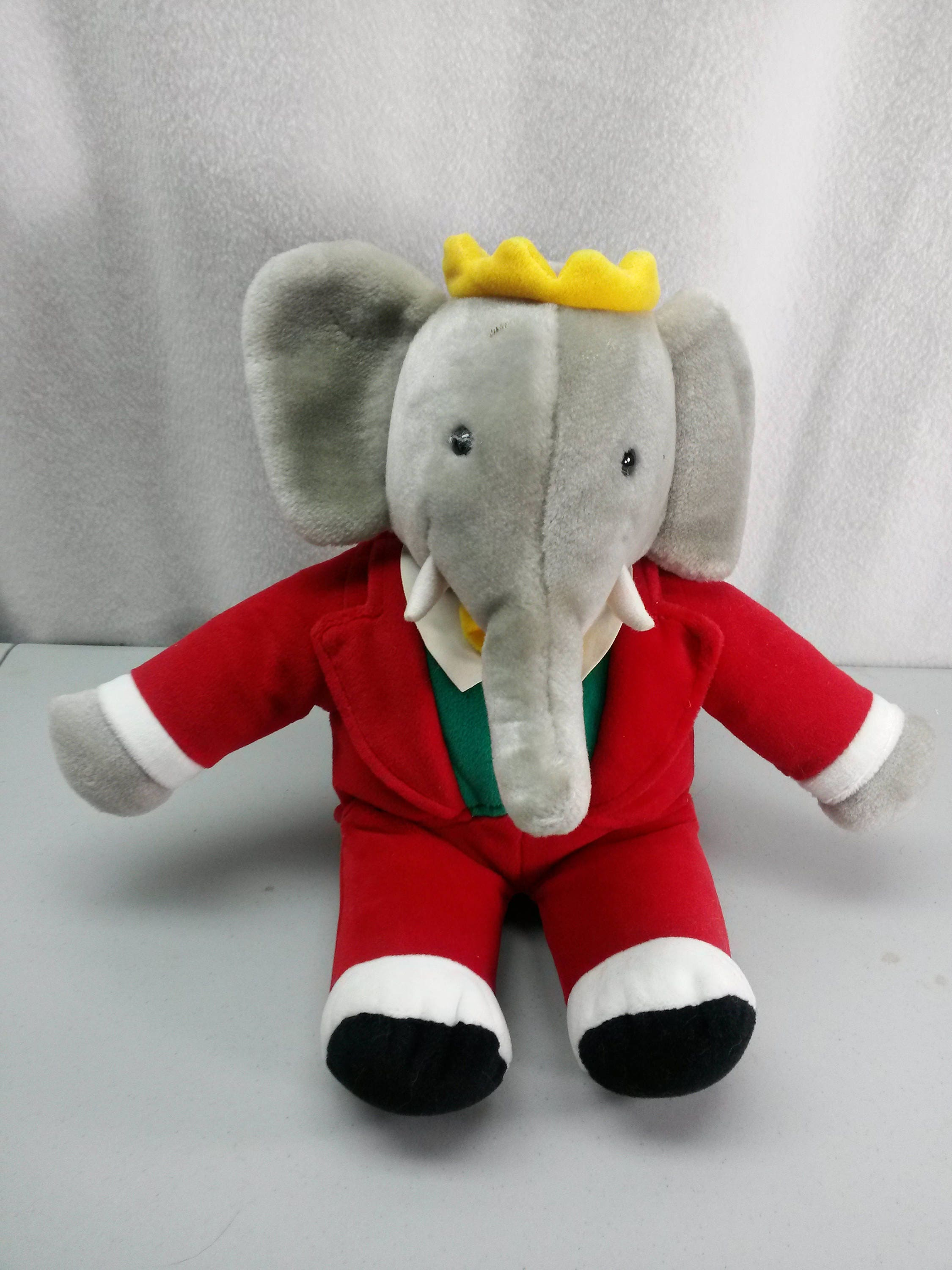 Babar The Elephant Plush Stuffed Animal Toy Gund 1988 Red Etsy