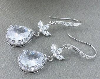 Dangle Earrings Bridal Earrings Statement Earrings Wedding Jewelry Gift for Her Mother of the Groom Gift for Bride Dangle Earrings Teardrop