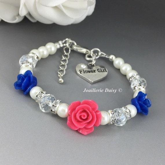 Blue Flower Girl Jewelry