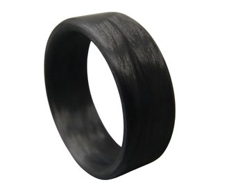 Carbon Fiber Unidirectional Black Wedding Ring