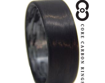 Carbon Fiber Unidirectional Black Ring with texalium inside
