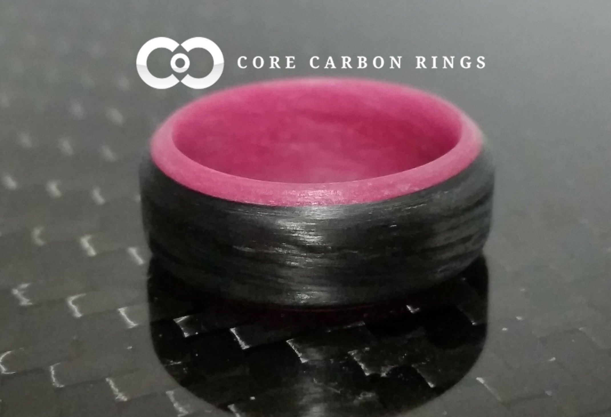 Carbon Fiber Pink Glow Ring   Etsy