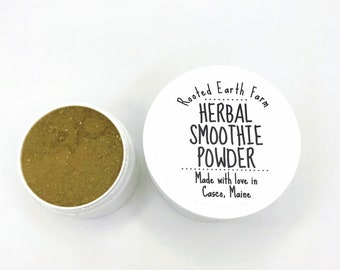 Smoothie Powder, Organic Plant Powder, Organic Supplement, Herbal Supplement, Herbal Vitamin, Supplement Powder, Herbal Powder, Superfood