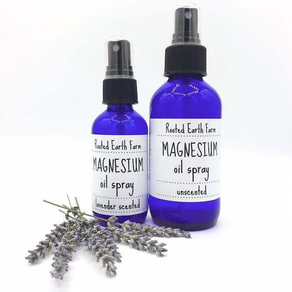 Magnesium Oil Spray Lavender or Unscented Magnesium Spray
