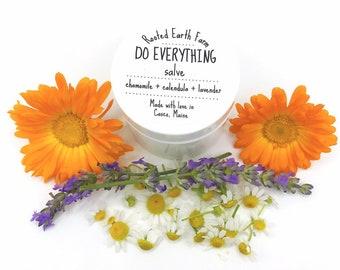 Organic Herbal Salve, Calendula Salve, Healing Salve, Dry Skin, Herb Salve, Chamomile Salve, Hand Cream, Skin Soothing Cream, Skin Lotion