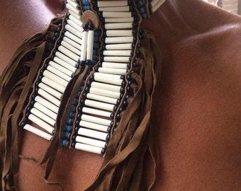 Bone tribal neck plate