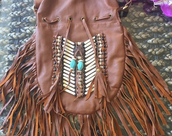 Leather fringe bag normally 79.00