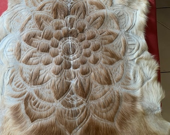 Light fawn colour mandala goathide