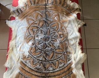 Mandala goathide handcarved