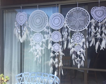 Bulk lot white dreamcatchers