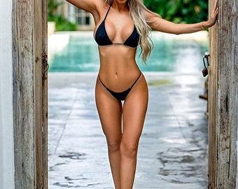 Black gstring bikinis
