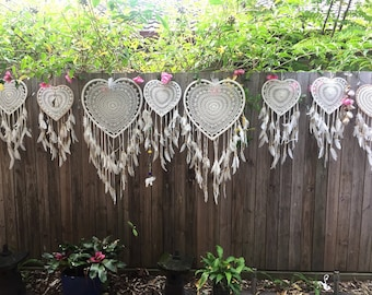 Loveheart bohowedding dreamcatchers