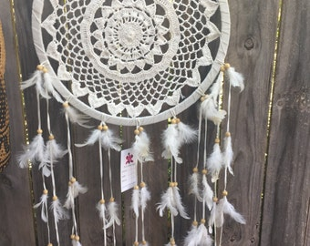 Off White feather dream catcher