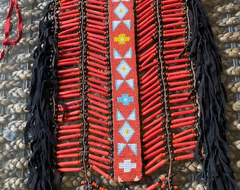 Red / black Indian style chest plate