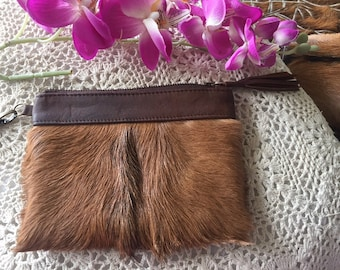 Goatskin/ leathet purse