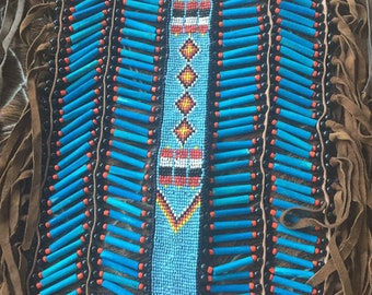 Turquoise  blue warrior breast plate