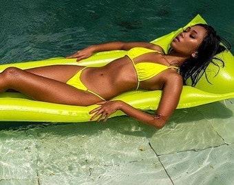Neon yellow gstring bikinis